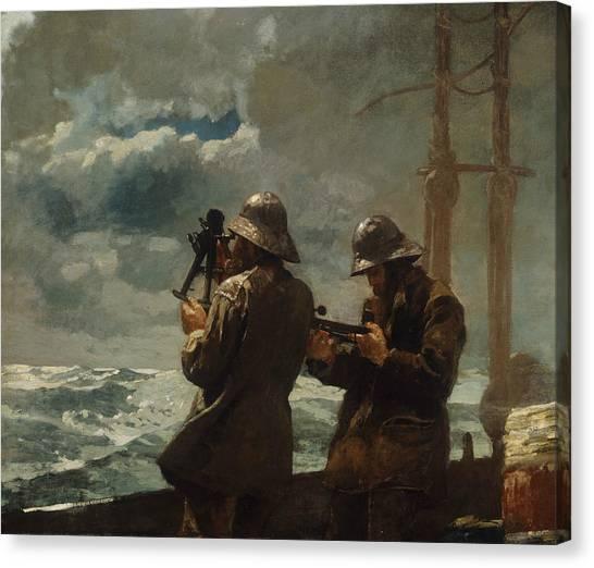 Winslow Canvas Print - Eight Bells by Winslow Homer