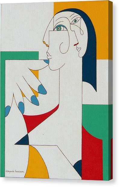 5 Fingers Canvas Print by Hildegarde Handsaeme