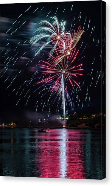 Fireworks Over Portland, Maine Canvas Print