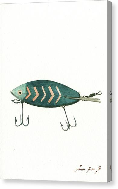 Fishing Canvas Print - Fishing Lure by Juan Bosco