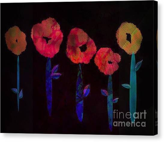 5 Flowers Canvas Print