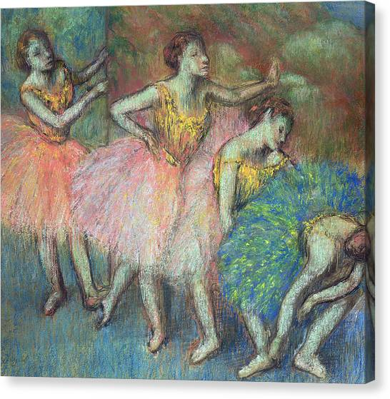 Edgar Degas Canvas Print - Four Dancers by Edgar Degas