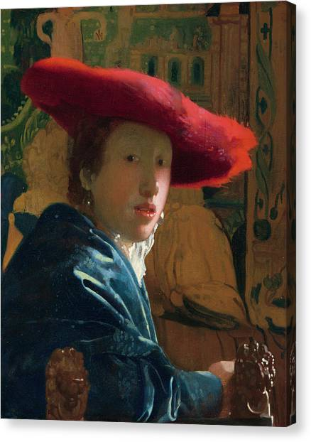Music Genres Canvas Print - Girl With The Red Hat by Johannes Vermeer