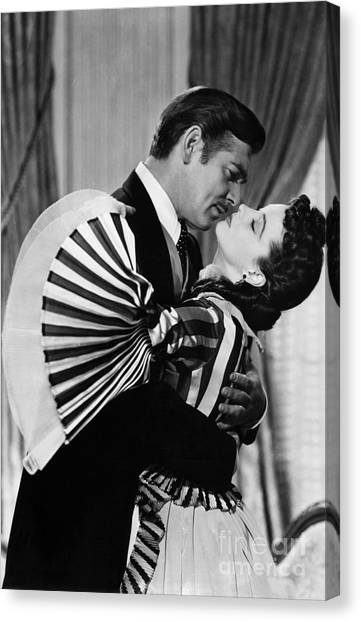 Humans Canvas Print - Gone With The Wind, 1939 by Granger