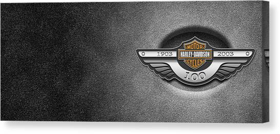 Harley Davidson Canvas Print - Harley-davidson by Super Lovely