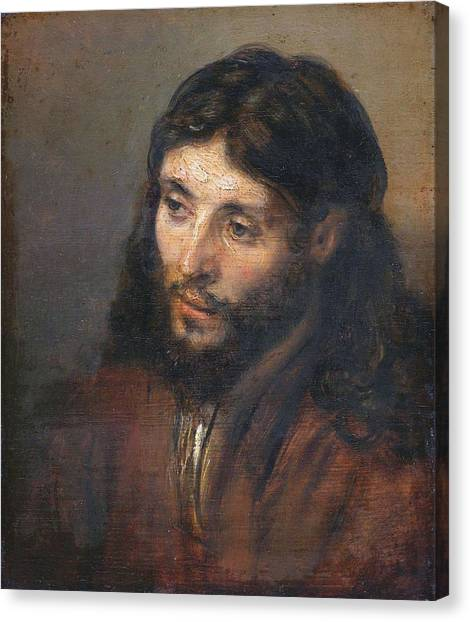 Head Of Christ Canvas Print
