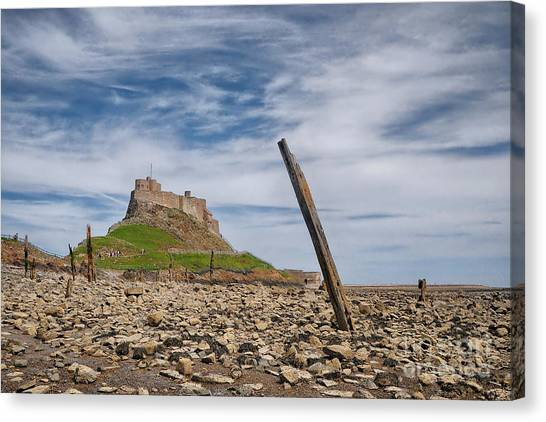 Northumberland Canvas Print - Holy Island Of Lindisfarne by Smart Aviation