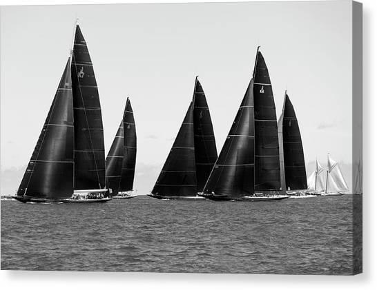 J class yacht canvas print 5 j class and schooner by gilles martin raget