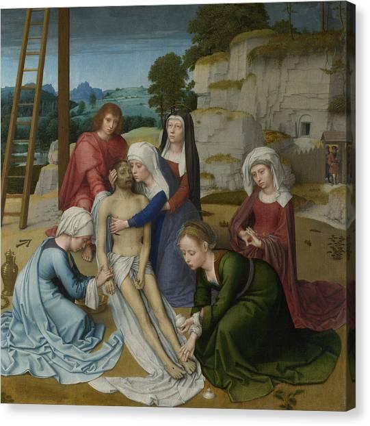 Early Christian Art Canvas Print - Lamentation by Gerard David