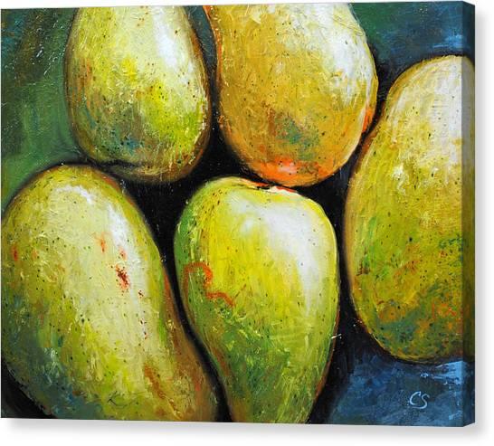 Mangos Canvas Print - 5 Mangos by Chris Steinken