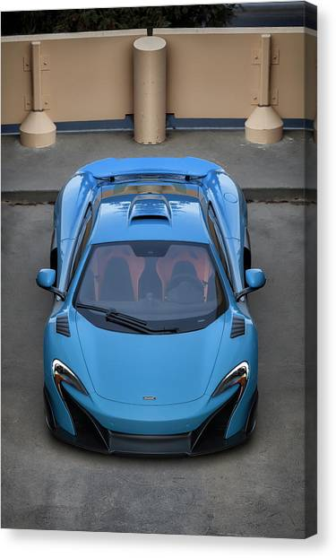 Canvas Print featuring the photograph #mclaren #675lt #print by ItzKirb Photography