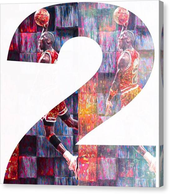 Basketball Canvas Print - #michaeljordan #jordan #airjordan #nike by David Haskett II