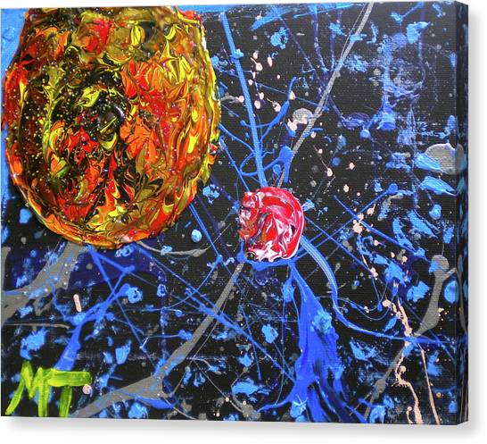 Midnight Transit Planet Canvas Print