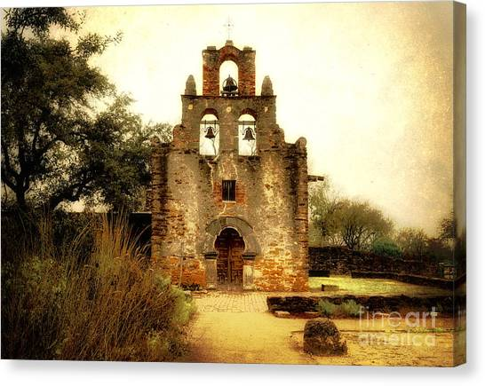 Mission Canvas Print - Mission Espada by Iris Greenwell