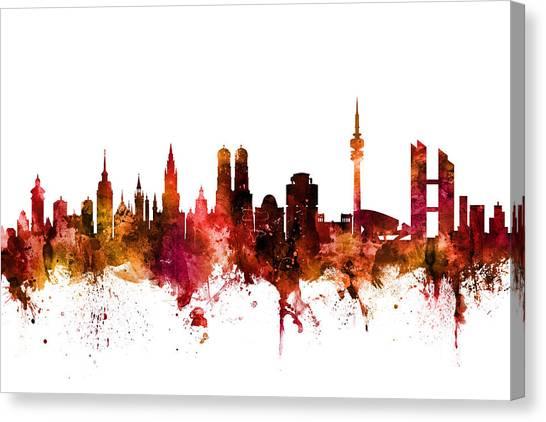 Munich Canvas Print - Munich Germany Skyline by Michael Tompsett