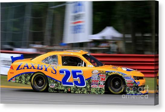 Joe Gibbs Canvas Print - Nascar Racing by Douglas Sacha