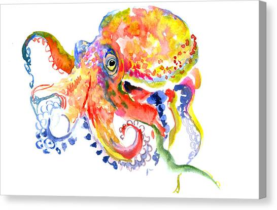 Octopus Canvas Print - Octopus by Suren Nersisyan