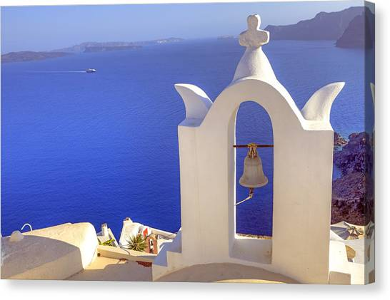 Greece Canvas Print - Oia - Santorini by Joana Kruse
