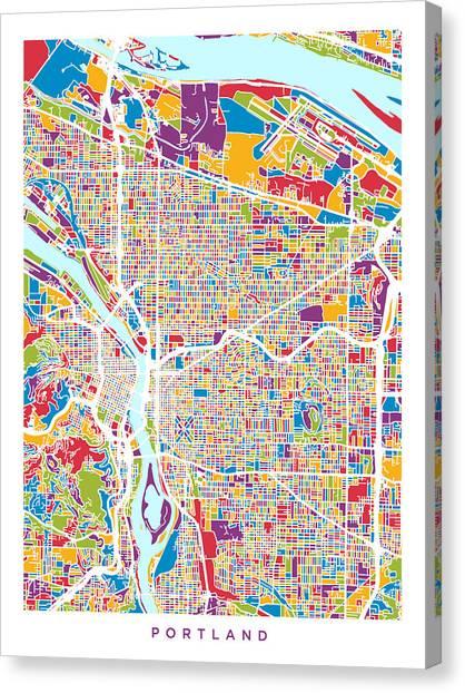 Oregon Map Canvas Prints | Fine Art America