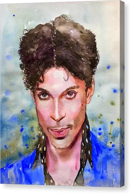 Nelson Canvas Print - Prince Rogers Nelson Portrait by Suzann's Art