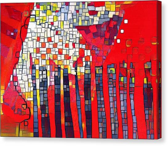 Red Series 4 Canvas Print