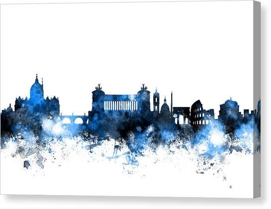 Rome Canvas Print - Rome Italy Skyline by Michael Tompsett