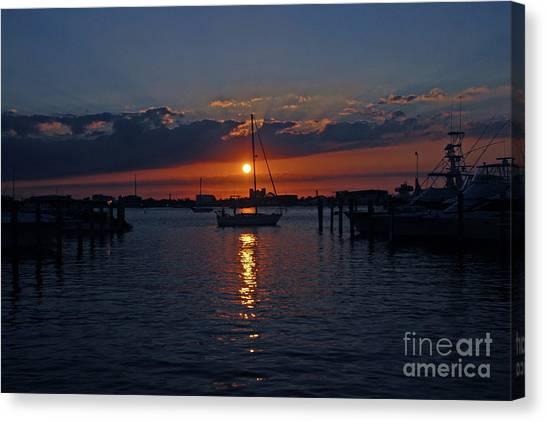 5- Sailfish Marina Sunset In Paradise Canvas Print