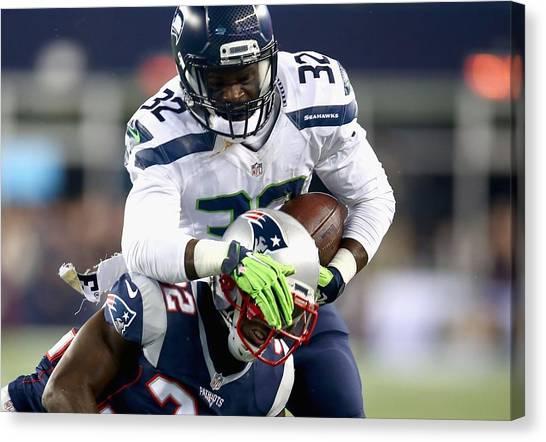 Football Players Canvas Print - Seattle Seahawks by Mariel Mcmeeking