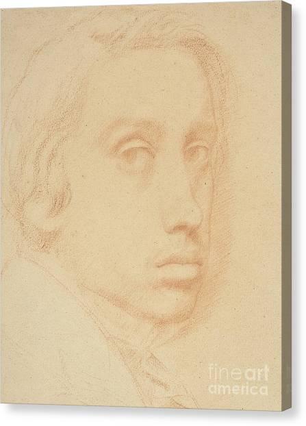 Edgar Degas Canvas Print - Self-portrait by Edgar Degas