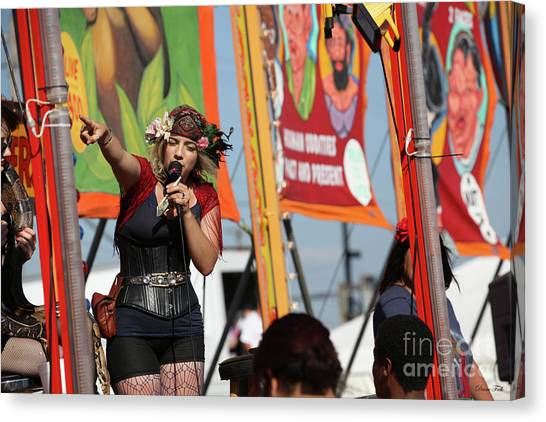 Sideshow Performer Canvas Print by Diane Falk