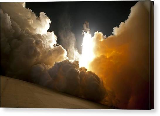 Space Ships Canvas Print - Space Shuttle by Mariel Mcmeeking