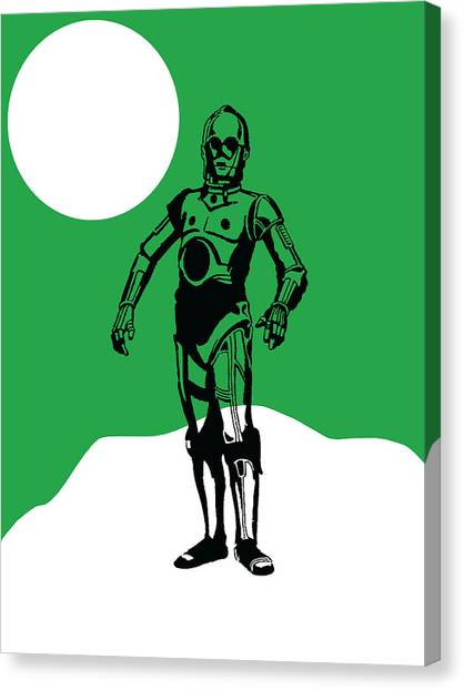 Science Fiction Canvas Print - Star Wars C-3po Collection by Marvin Blaine