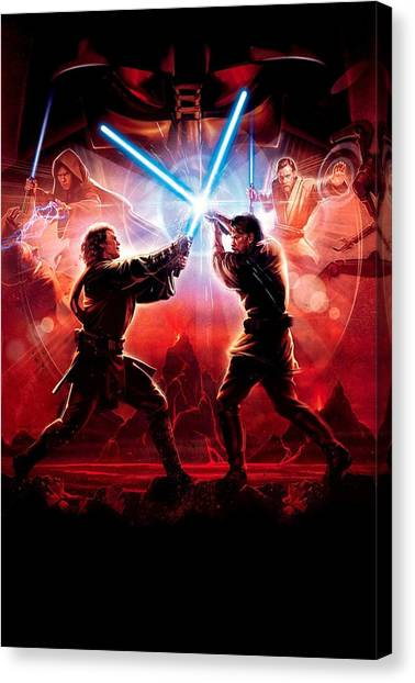 Chewbacca Canvas Print - Star Wars Episode IIi - Revenge Of The Sith 2005 by Fine Artist