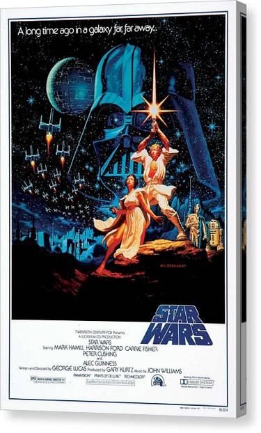 Chewbacca Canvas Print - Star Wars Episode Iv - A New Hope 1977 by Geek N Rock