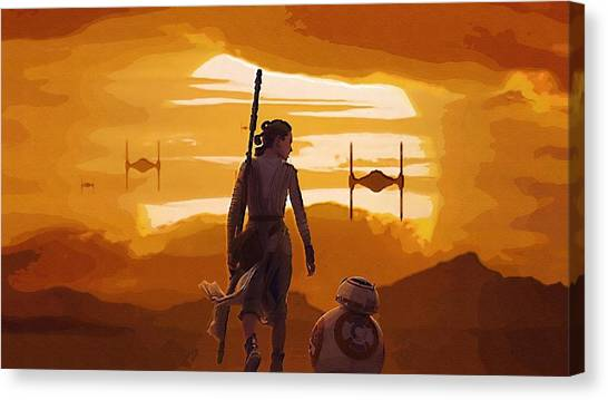 C-3po Canvas Print - Star Wars Movie Poster by Larry Jones
