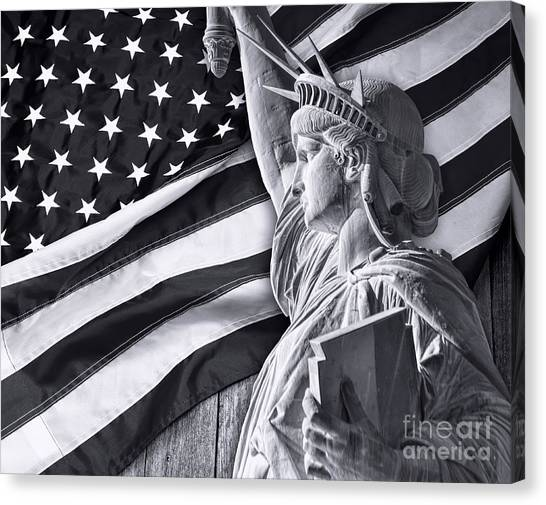 Illegal Aliens Canvas Print - Statue Of Liberty. by W Scott McGill
