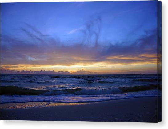 Sunset At Delnor Wiggins Pass State Park Canvas Print