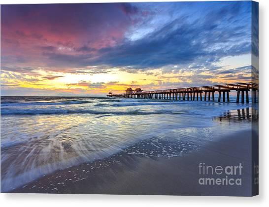 Sunset Naples Pier, Florida Canvas Print