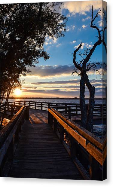 Canvas Print featuring the photograph Sunset On The Cape Fear River by Willard Killough III