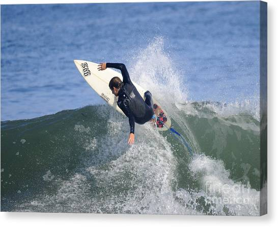 Surfer Canvas Print by Marc Bittan