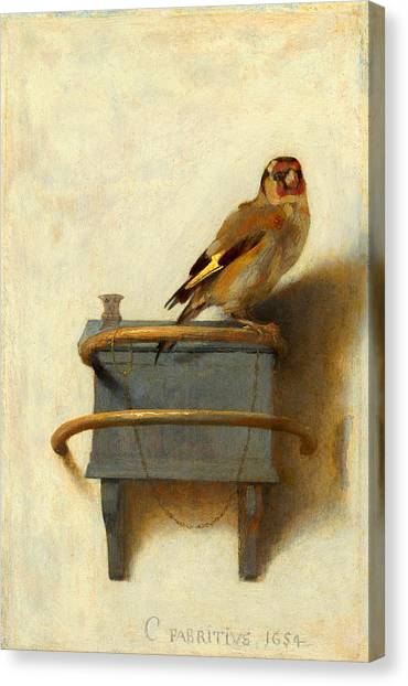 Meadowlarks Canvas Print - The Goldfinch by Carel Fabritius