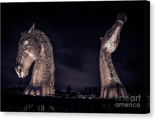 Kelpies canvas print the kelpies by rjd photography