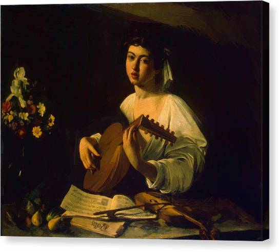 The Lute Player Canvas Print by Caravaggio