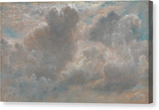 Clouds Canvas Print - Title Cloud Study by John Constable