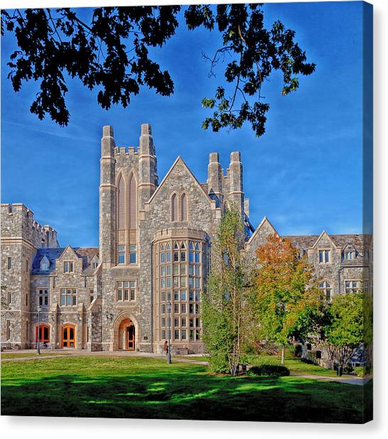 University Of Connecticut Canvas Print - Uconn Law School by Mountain Dreams