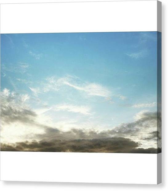Vancouver Skyline Canvas Print - #vancouver #clouds #cloud #cloudporn by Amirreza Ahmadivafa