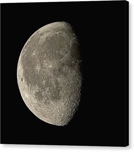 Satellite Canvas Print - Waning Gibbous Moon by Eckhard Slawik