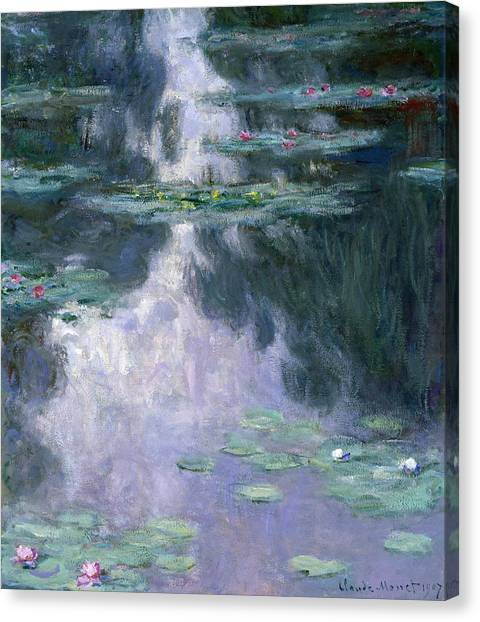 Lily Pond Canvas Print - Waterlilies by Claude Monet