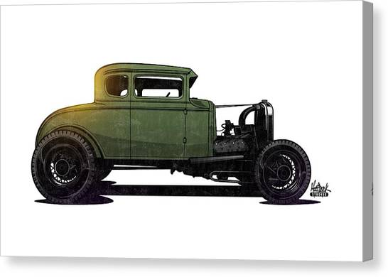 Canvas Print - 5 Window Hot Rod by Matt Dyck
