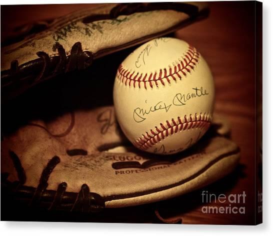 Mickey Mantle Canvas Print - 50 Home Run Baseball by Mark Miller